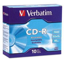 <strong>Verbatim Corporation</strong> Cd-R Discs, 700Mb/80Min, 52X, 10/Pack