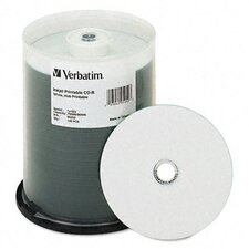 <strong>Verbatim Corporation</strong> Hub Inkjet Printable Cd-R Discs, 700Mb/80Min, 52X, 25/Pack