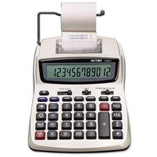 Compact Printing Calculator, 12-Digit Lcd