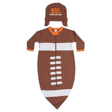 Football Bunting and Cap Set in Brown