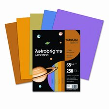 <strong>Wausau Papers</strong> Astrobrights Colored Card Stock, 65 Lbs., 8-1/2 X 11, 250 Sheets