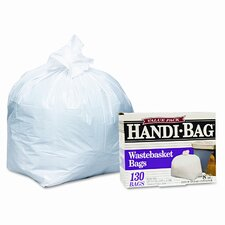 <strong>Webster Industries</strong> Handi-Bag Handi-Bag Super Value Pack, 8 Gallon, .55 Mil, 21-1/2 X 24, 130/Box