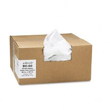 <strong>Webster Industries</strong> Classic Clear Clear Low-Density Can Liners, 55-60 Gal, .8 Mil, 38 X 58, 100/Carton