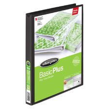Print-Won't-Stick Flexible Poly Round Ring View Binder, 5/8in Capacity