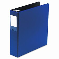 "Locking No-Gap Round Ring Binder with Label Holder, 2"" Capacity"