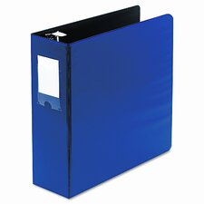 "Locking No-Gap Round Ring Binder with Label Holder, 3"" Capacity"