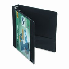 Smart-View Vinyl Round Ring View Binder, 1-1/2in Capacity