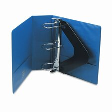 "Heavy-Duty No-Gap D-Ring Binder with Label Holder, 4"" Capacity"