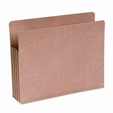 "Recycled File Pocket, Straight Cut, Letter, 3 1/2"" Expansion, Kraft"