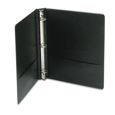"Economy Vinyl Round Ring View Binder, 11 X 8-1/2, 1"" Capacity"