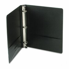 Vinyl Round Ring Locking View Binder, 1in Capacity