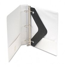 D-Ring Vinyl View Binder, 1-1/2in Capacity