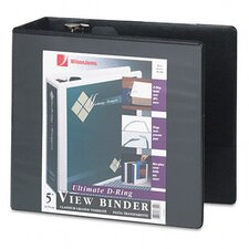 D-Ring Vinyl View Binder, 5in Capacity