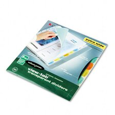 View-Tab Transparent Index Dividers, 8-Tab, Extra Wide Square, Letter