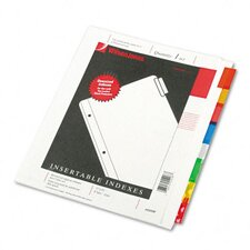 Oversized Reinforced Insertable Index, 8-Tab, 9-1/4 X 11