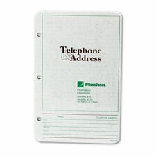 <strong>Wilson Jones</strong> Looseleaf Phone/Address Book Refill, 5-1/2 x 8-1/2, 80 Sheets, 2012