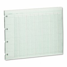 Accounting Sheets, 20 Column, 9-1/4 X 11-7/8, 100 Loose Sheets/Pack