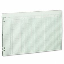 Accounting Sheets, 12 Columns, 11 X 17, 100 Loose Sheets/Pack