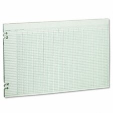 Accounting Sheets, 30 Columns, 11 x 17, 100 Loose Sheets/pack, GN, 2012