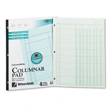 Accounting Pad, Four Eight-Unit Columns, Letter, 50-Sheet Pad