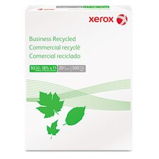 <strong>Xerox®</strong> Business Recycled Copy Paper, 92 Bright, 20Lb, 8-1/2 X 11, 500 Sheets/Ream
