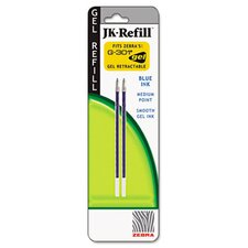 Refill For Jk Gel G-301 Rollerball, 2/Pack