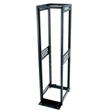 "R4 Series 24"" D Four-Post Open Frame Rack with 12-24 Threaded Rackrail"