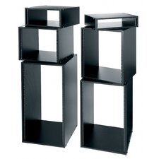 "22"" D Black Laminate Knock-Down Rack"