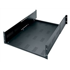 "Adjustable Heavy Duty Vented Rack Shelf, 3U Space (5 1/4"")"