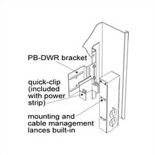 Power Mounting Bracket for DWR Wall Racks