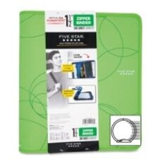 "Zipper Binder, 1-1/2"", Zipper Pocket, 12""x13-3/4"", Assorted Colors"