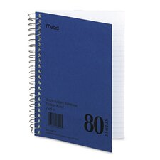 Spiral Bound 1 Subject Notebook, College Rule, 5 X 7, 80 Sheets/Pad