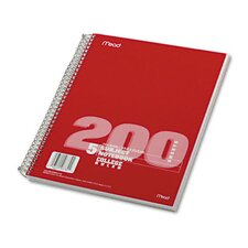 5 Subject Notebook, College Rule, 8-1/2 X 11, 200 Sheets/Pad