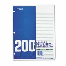 Economical 16-Lb. Filler Paper, College Ruled, 11 X 8-1/2, 200 Sheets/Pack