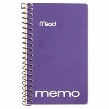 "Memo Book, College Ruled, 5"" X 3"", Wirebound, 60 Sheets"