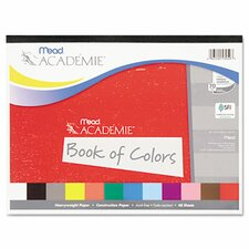 Academie Book of Colors, Construction Paper, 18 x 12, Assorted, 48 Sheets