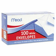 <strong>Mead</strong> Business Envelope, 3 5/8 × 6 1/2, 20 lb, White, 100/Box