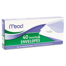 Security Envelope, 4 1/8 X 9 1/2, 20 Lb, 40/Box