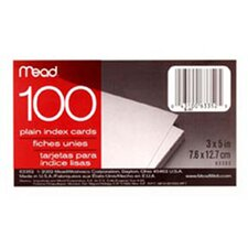 Cards Index Plain 3 X 5 100 ct