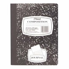 "Composition Book, Special Ruled, 9-3/4""x7-1/2"", Black Marble"