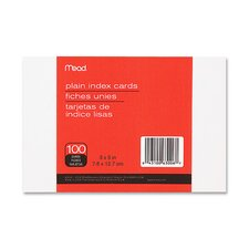"Index Cards, Plain, 4"" x 6"", Unruled, White, 100 Pack"