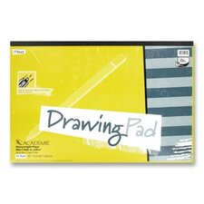 "Drawing Pad, Heavy Weight, 12""x18"", 24 Sheets White"