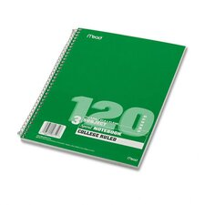 Spiral Bound Notebook, College Rule, 8-1/2 X 11, 120 Sheets/Pad