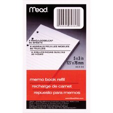 "80 Sheet 3"" x 5"" Memo Book Refill"