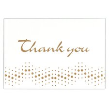 "4"" x 5.75"" Embossed Thank You Note (10 Count)"
