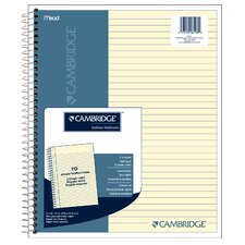"8.5"" x 11"" Cambridge Stiff Back Wirebound Notebook"