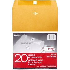 "9"" x 12"" Clasp Envelope (20 Count)"