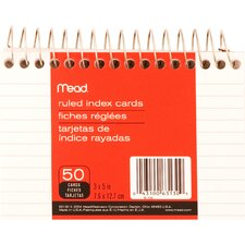 Wirebound Ruled Index Card (50 Count)