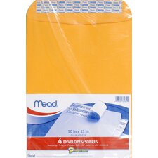 "10"" x 13"" Kraft Press-it-Seal-it Envelope (4 Count)"