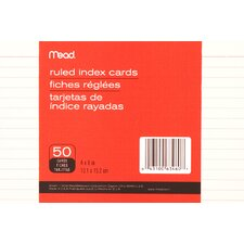 "4"" x 6"" Ruled Index Card (50 Count)"